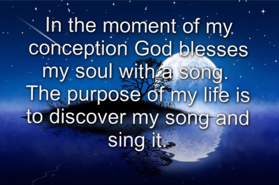 sing my song, the universe, reflection, God's blessing,
